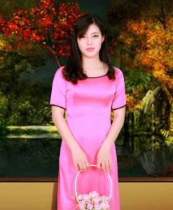 Pink Silk Ao Dai Vietnam Costume
