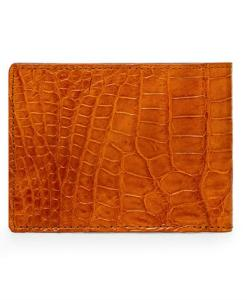 crocodile leather wallet belly skin