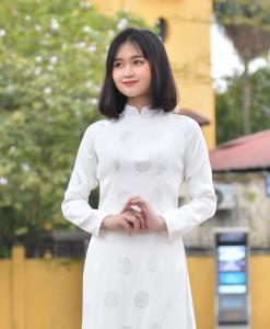 White Brocade Ao Dai