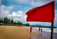 vlaggen op de Thaise stranden