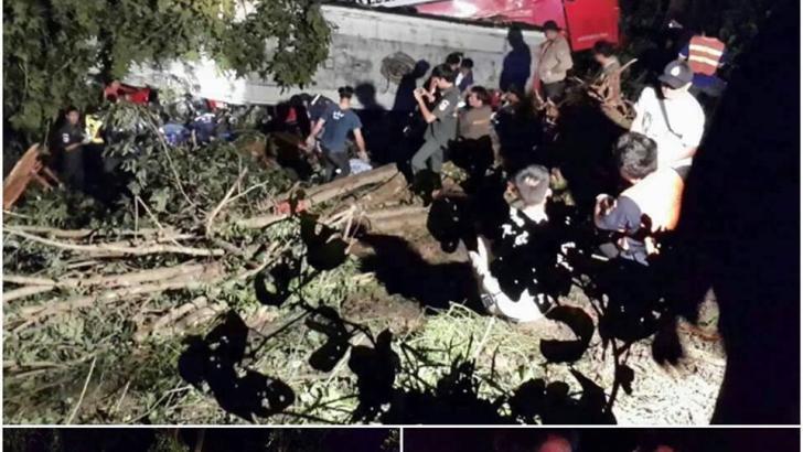 Busongeluk in Lampang: minimaal 20 doden