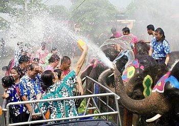 Songkran verzuipt