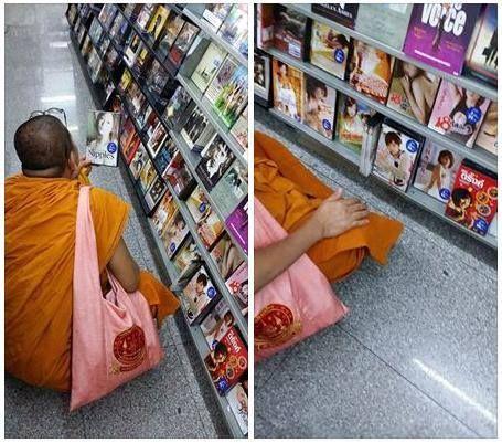 Ondeugende monnik op zoek naar porno