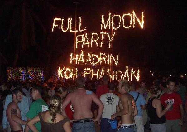 De andere kant van de Full Moon Party