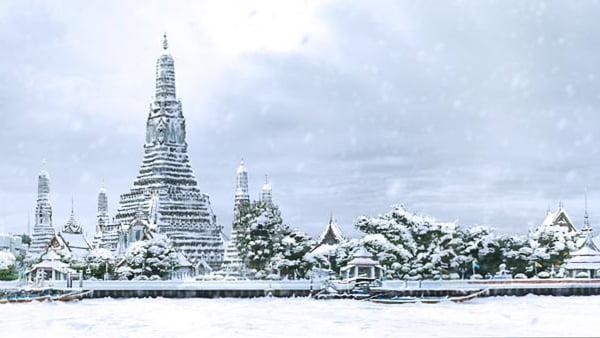 Hoe zou Bangkok in de sneeuw eruit zien?