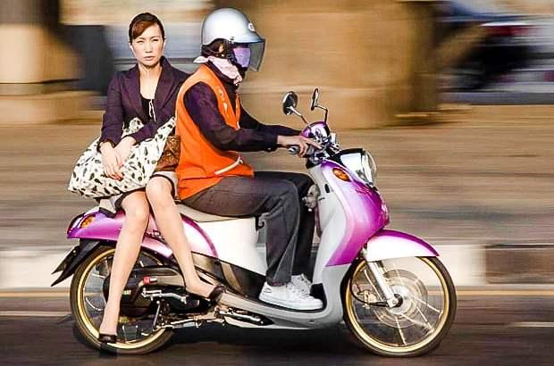 Eerlijke tarieven motortaxi in Thailand