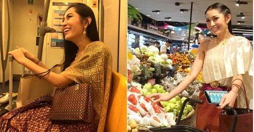 Meer traditionele Thaise kleding in het straatbeeld?