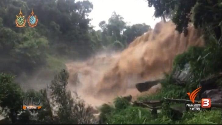 Watervallen van Doi Inthanon gesloten na regen