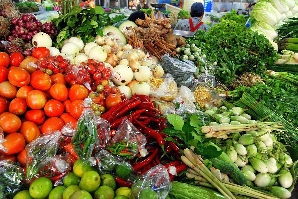Groenten op de Thaise markt