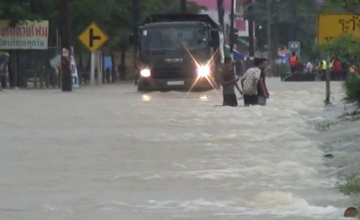 slechte weer in Thailand