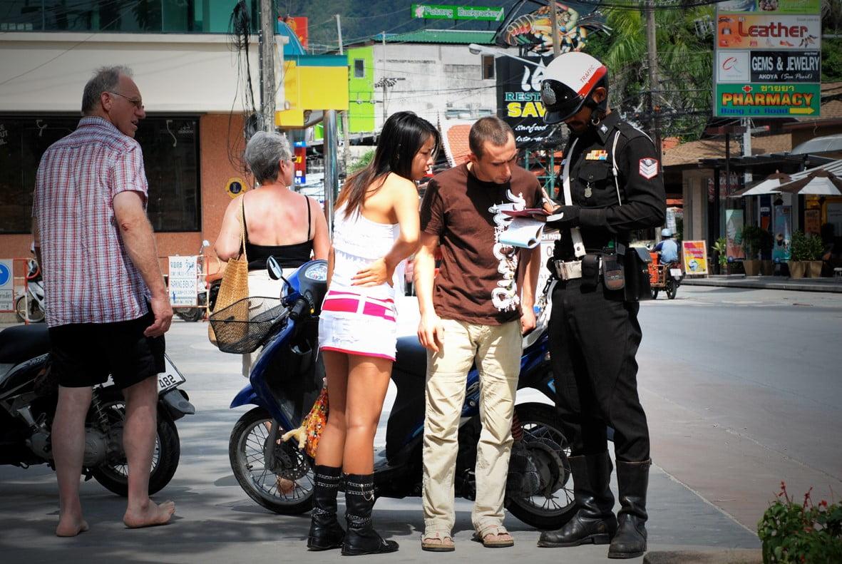 verkeersboete in Thailand