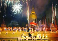 Licht en klankshow in Sukhothai