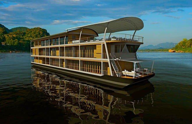 luxe cruise op de Mekong