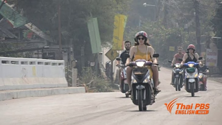 Steeds meer motorbikeongelukken in Pai