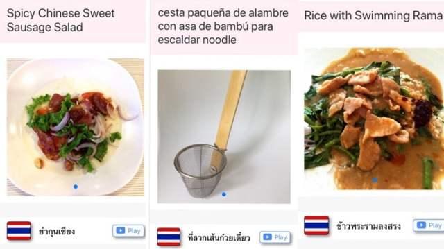 Vertaal-app voor Thaise gerechten