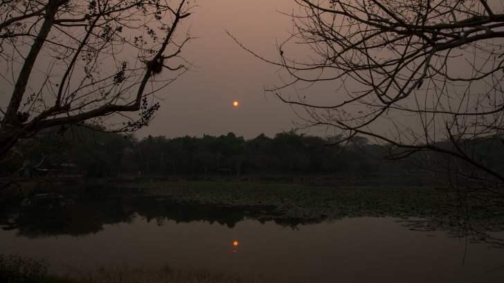 Extreme smog in noord-Thailand