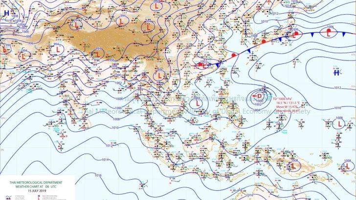 Weerswaarschuwing in Thailand vanwege tropische storm 'Mun'