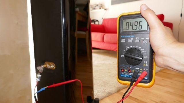 Messung Spannung Lautsprecherkabel