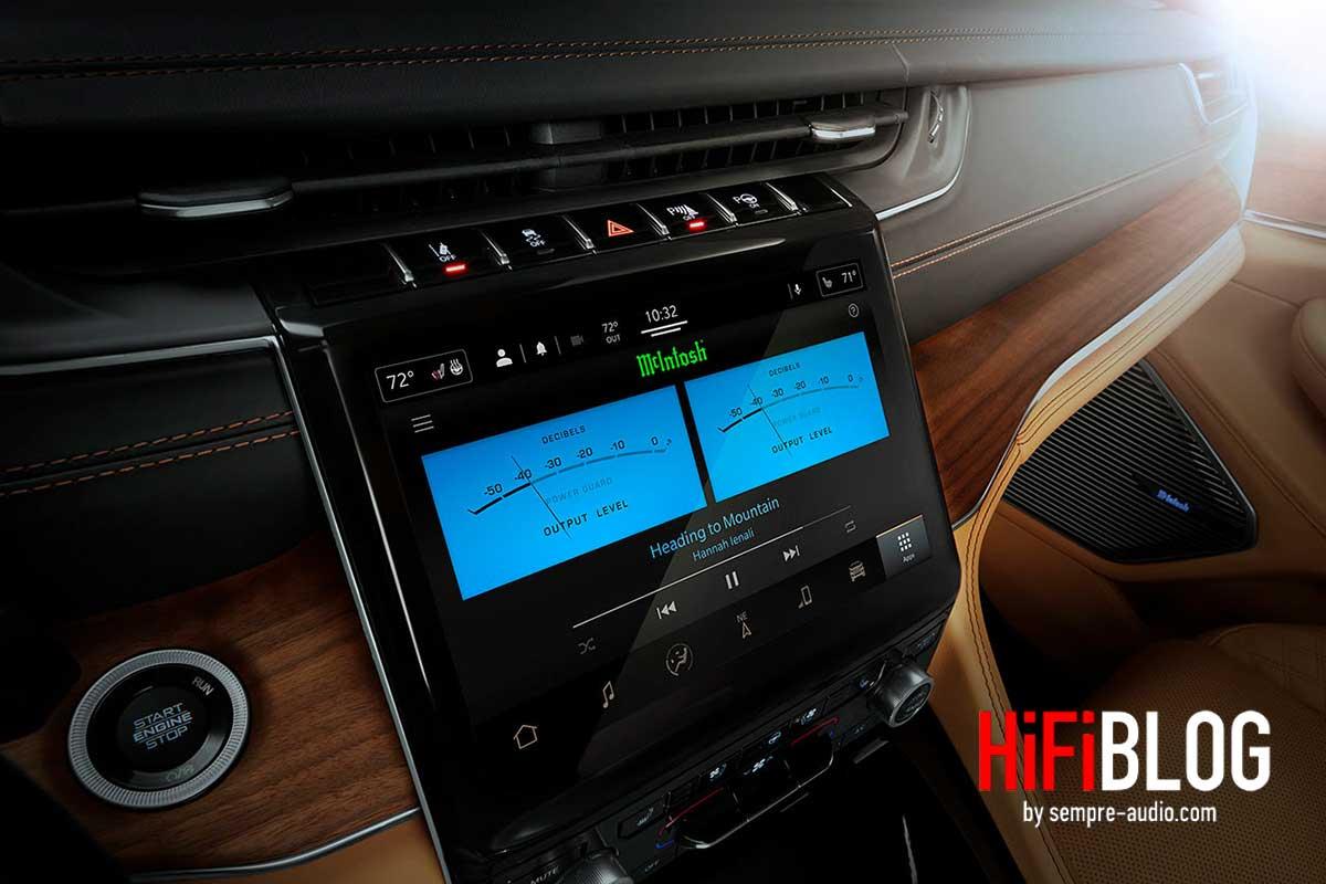 McIntosh MX950 Entertainment System im Jeep Grand Cherokee L 02