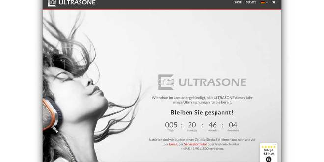 Ultrasone AG announces product offensive and new website