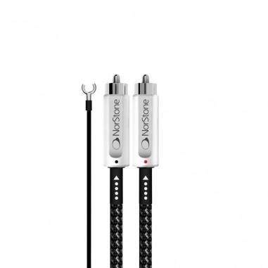 Câble RCA audio avec câble masse pour platine vinyle