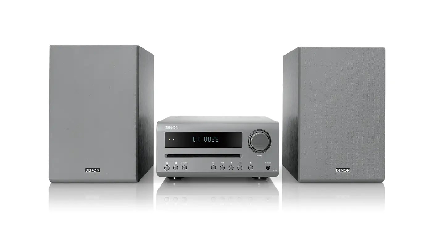 Denon D-T1 Hi-Fi-Mini-System with CD and Bluetooth grey buy at hifisound.de