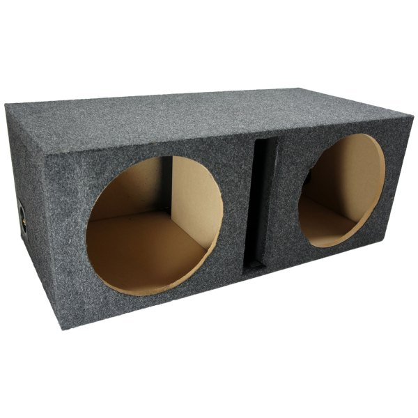 Dual 12 Car Audio Vented Box Ported Stereo Subwoofer Speaker Enclosure
