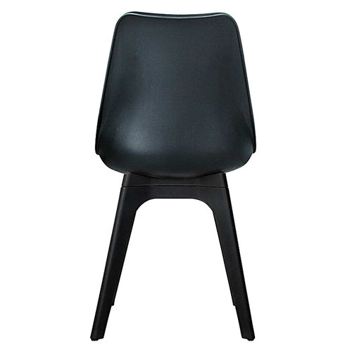 modern plastic dining chair with leather cushion