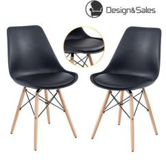 Eames Style Plastic Chair Covers And Linens Indianapolis Dining Chairs Soft Padded Seat Modern With Wood Legs