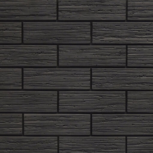Black Brick Slips Get A Trending Wall Cladding Look