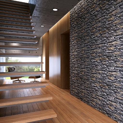 Light Exterior Stone Panels Get A Trending Feature Wall