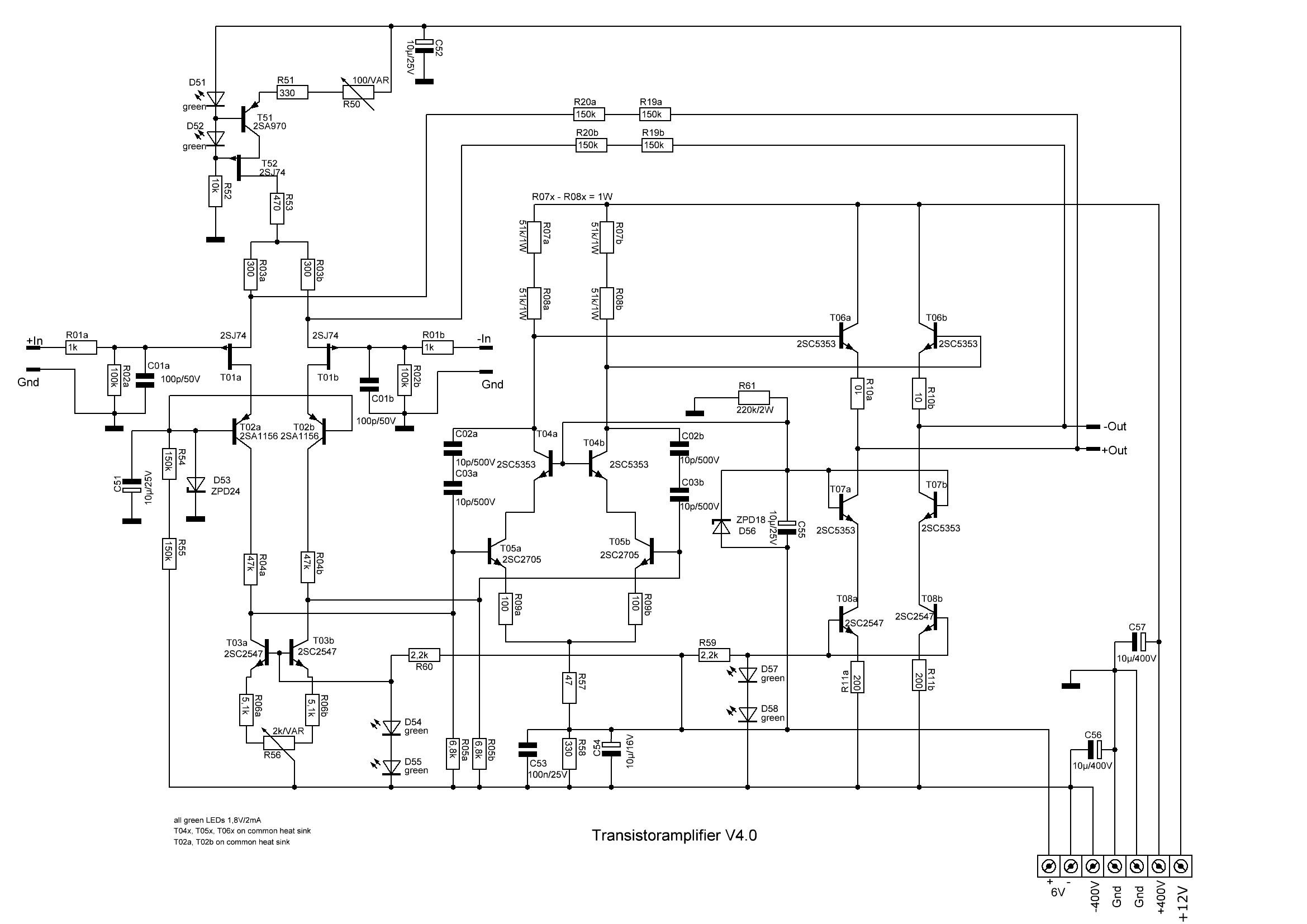 Trans Amp V4 Schematic