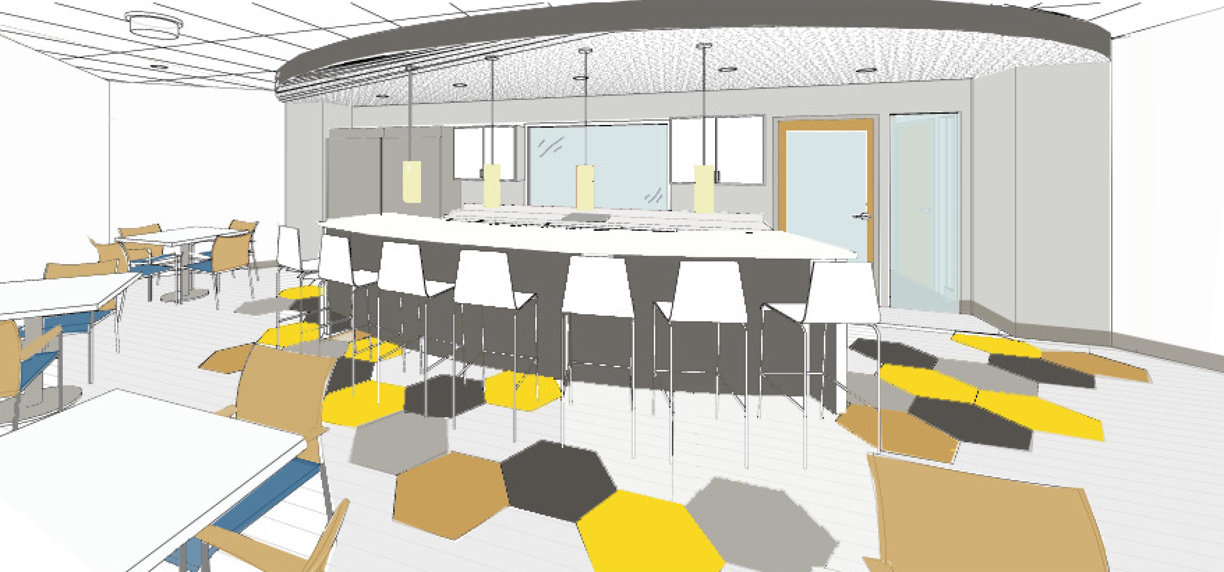 office design sf. MPA_BestDoctorsQuincy_BreakRoom Office Design Sf