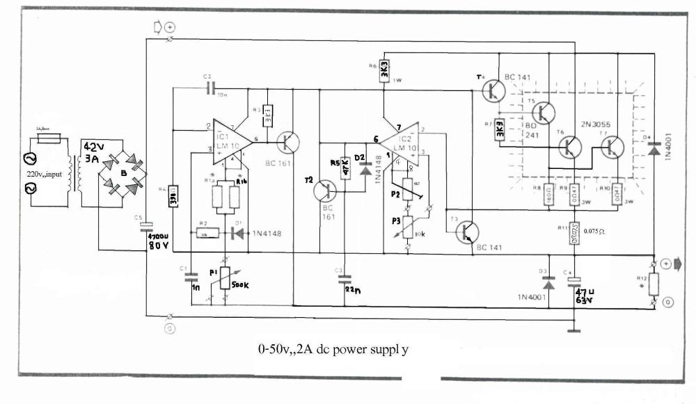 medium resolution of how to build 0 50v 2a bench power supply circuit diagram