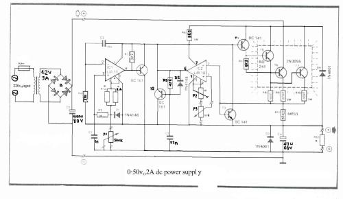 small resolution of how to build 0 50v 2a bench power supply circuit diagram