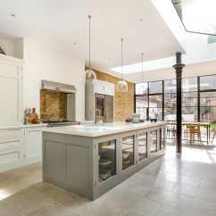 Kitchen Island With Dishwasher Cabinets And Countertops Wandsworth Common Westside, London Handleless Shaker ...