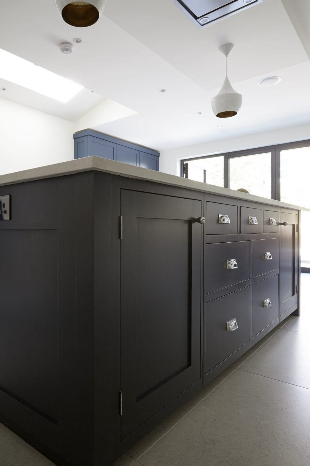 kitchen island prices cart stainless steel top wandsworth, london painted shaker - higham furniture
