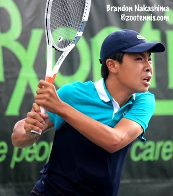 Brandon Nakashima #10 in World Tennis Rankings
