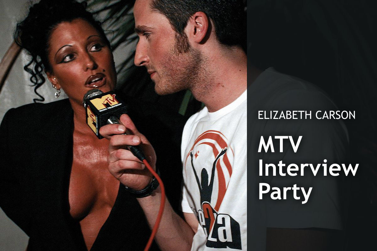Elizabeth Carson - MTV Interview Party