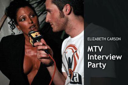Elizabeth Carson - MTV Interview Party