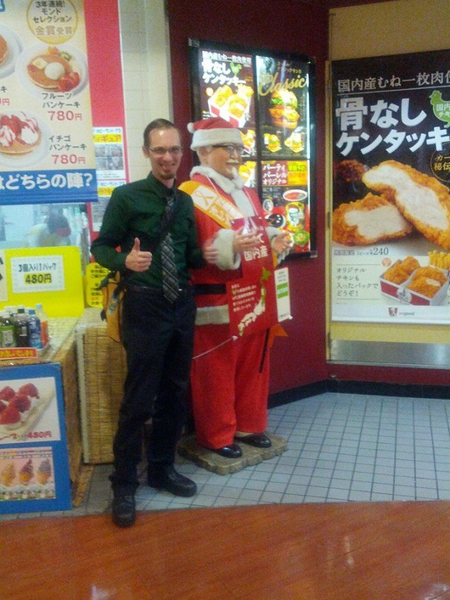 Fatass Colonel Sanders at Tempozan Osaka