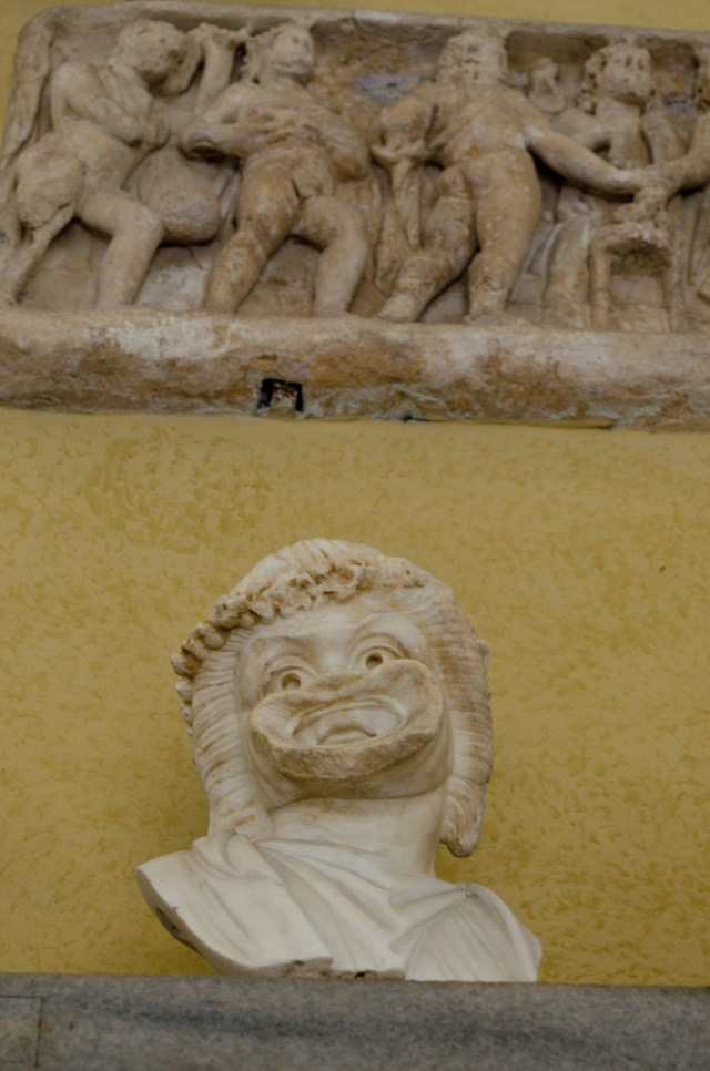 Creepy Mouth Statue @ Hall of Busts, Vatican Museum, Rome, Italy