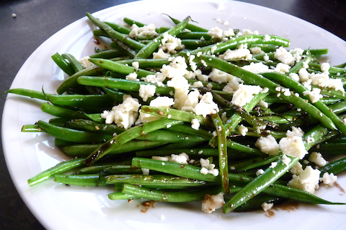 Green Beans with Feta and Balsamic Vinegar | High Country Olive Oil