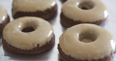 Baked Espresso Brownie Doughnuts