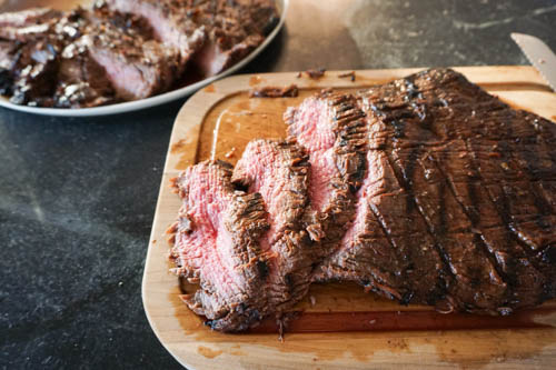 Grilled flank steak with soy-honey marinade   High Country Olive Oil