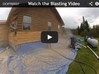 Log Home Media Blasting And Stripping Log Home Stain
