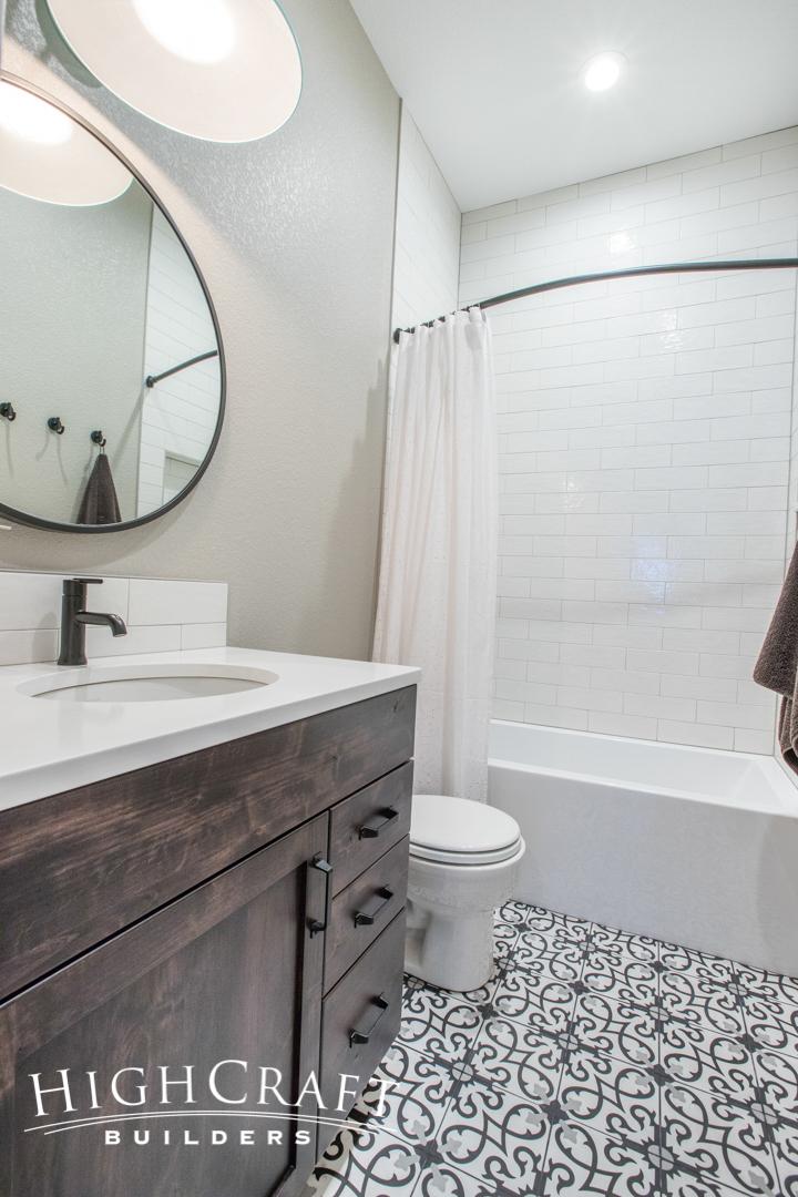 bathroom remodel white subway tile