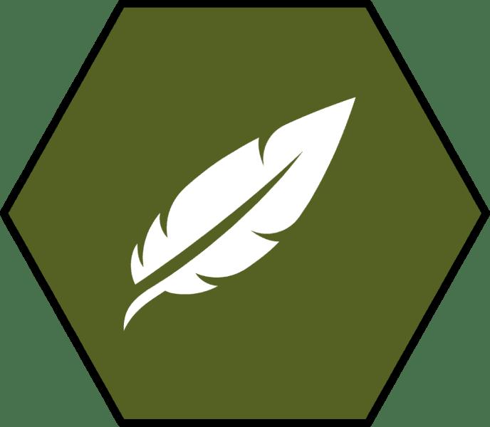 gruenes-sechseck-mit-weisser-feder-sensible-haut