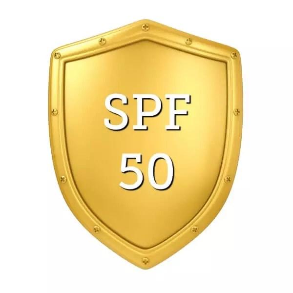 goldener-schutzschild-mit-spf-ziffer-50-in-der-mitte