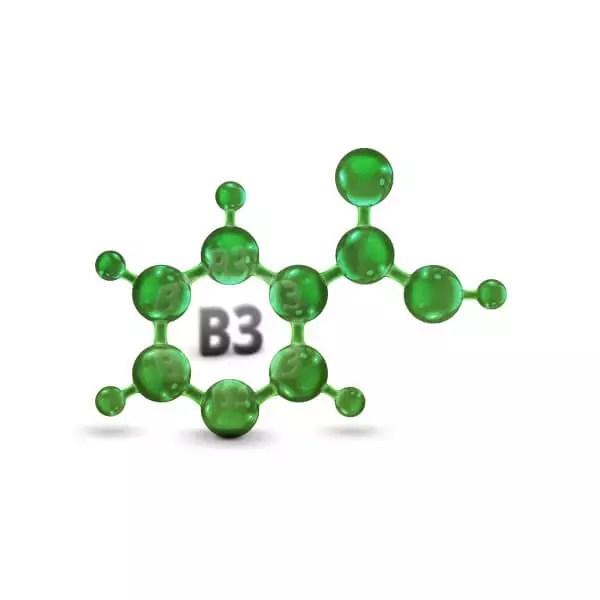 vitamin-b3-niacinamid-plastisch-dargestellt-in-gruen
